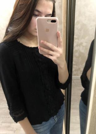 Чёрная блузка, вышиванка