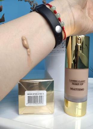 Акция! тональный крем для нормальной и жирной кожи matting make-up №3. франция.2 фото