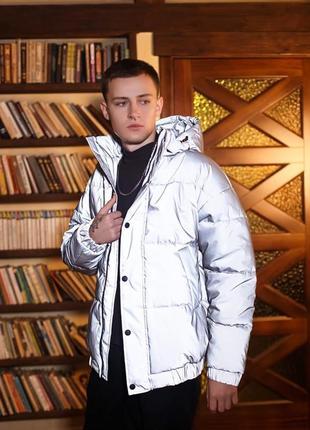 Куртка мужская рефлективная светоотражающая зимняя теплая1 фото