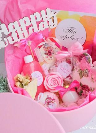 Подарунковий набір бокс «королева квітів », подарунок дівчині, дружині, подрузі, сестрі