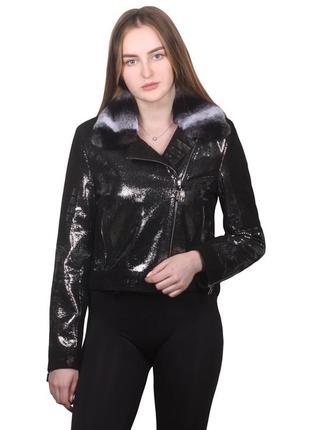 Куртка кожаная с натуральным мехом, двусторонняя, цвета и размеры в наличии.