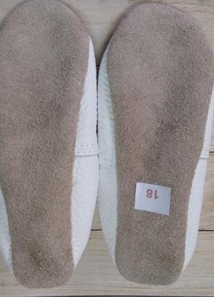 Чешки белые кожаные на резинке2 фото