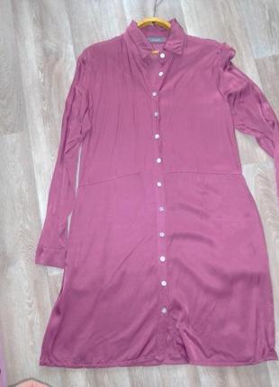 Платье рубашка шелковое