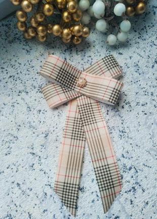 Женский галстук брошь burberry