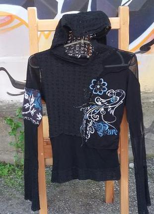 Черная блузка motivi
