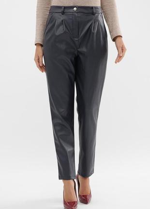 Разные цвета флисовые теплые брюки штаны эко кожа кожаные синие трендовые