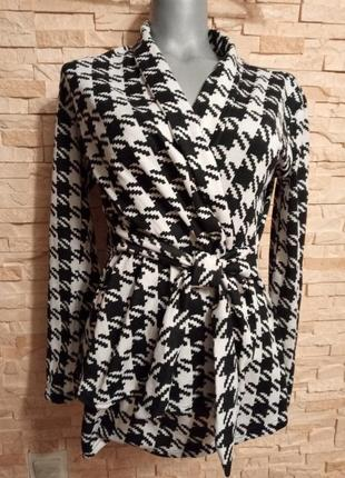 Пиджак кардиган кофта с поясом