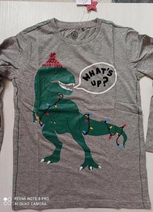 Новогодний реглан кофта свитер свитшот новогодняя новый год с динозавром