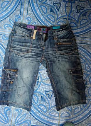 Шорты джинсовые до колена1