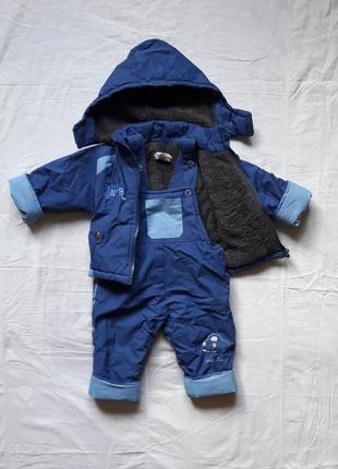 Детский зимний костюм на мальчика 9-12 мес