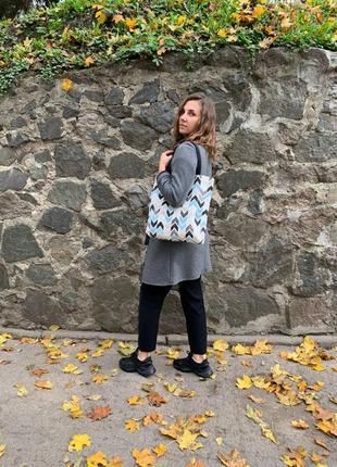 Эко- сумка ручной работы из испанского хлопка