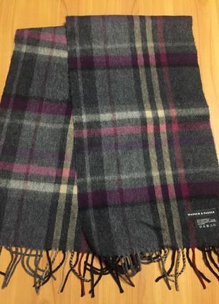 Шерсть с кашемиром шарф warren parker