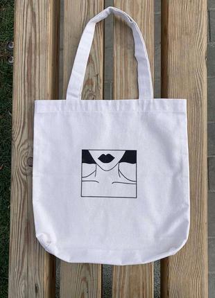 Эко- сумка с рисунком ручной работы