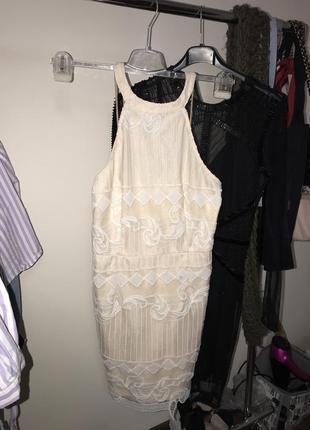 Бежевое платье zara