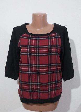 Комбинированная блуза из вискозы garage