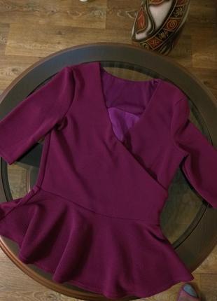 Блуза с баской asos