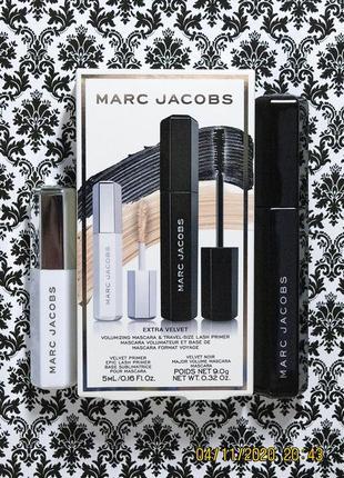 Набор marc jacobs extra velvet - праймер epic lash и тушь для ресниц major mascara 9 г