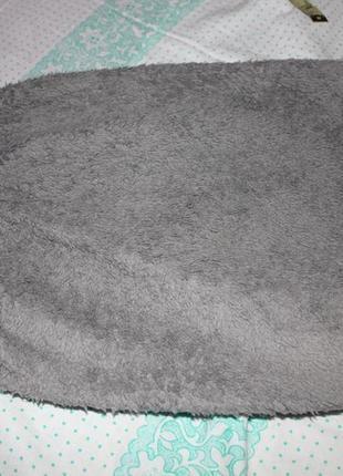 Наволочка на маленькую подушку серая плюшевая