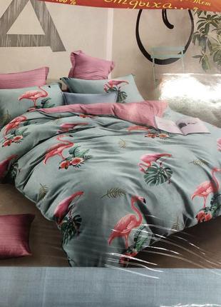 Постельное фламинго 100% хлопок