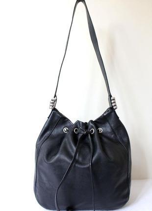 Большая кожаная сумка- мешок  lupo,испания