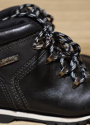 Красивые черные комбинированные утепленные кожаные ботинки timberland 26 1/2 р.