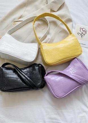 Стильна сумка багет 2021 стильная сумочка трендовая сумка хит