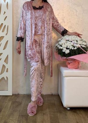 Домашний набор пижама и халат