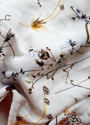 Белое платье цветочный принт біла сукня квіти плаття принт2 фото