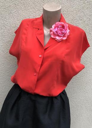 Винтаж,шелковая блуза реглан,рубашка,тениска,большой размер