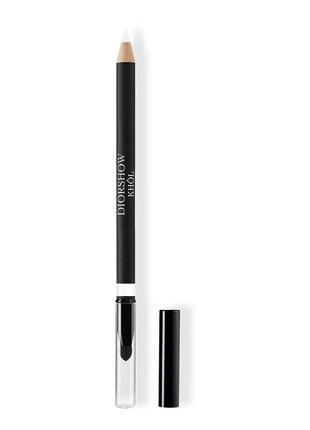 Карандаш для макияжа глаз белого цвета с точилкой dior diorshow khol 009