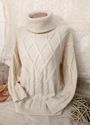 Тёплый свитер one size