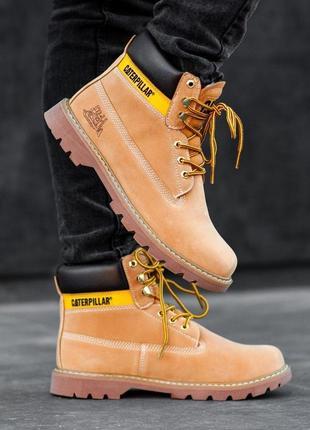 Ботинки cat caterpillar yellow мех 40-41-42-44