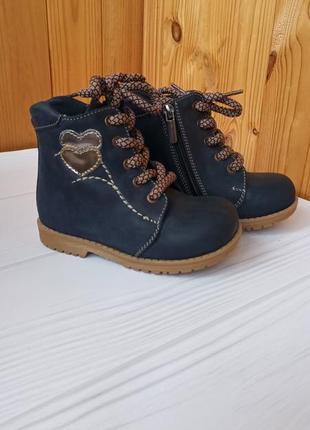 Кожаные сапожки зимние 24 р.,ботинки зимние для девочки