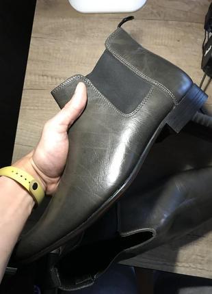 Туфли челси кожанные asos
