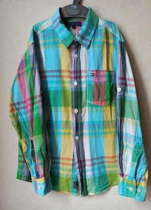 Рубашка яркая цветная хилфигер 134