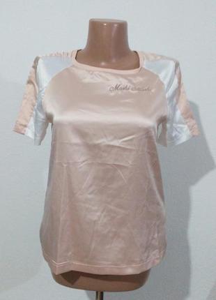 Комбінована ніжна футболка блуза стан нової