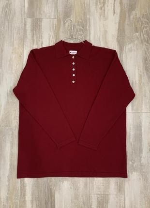 Кашемировый свитер поло бренда fabiani, кашемир 100 %. размер l-xl.