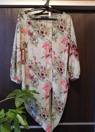 Шикарная, стильная блуза блузка цветы next