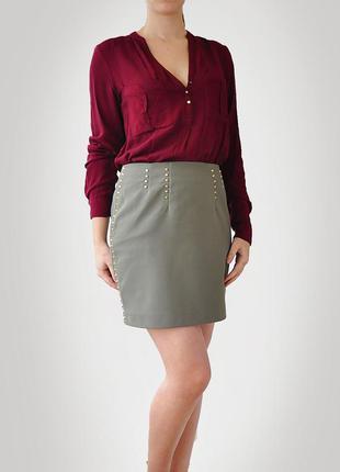 Видео красивейшая юбка миди хаки зеленая офисная праздничная h&m 36eu s