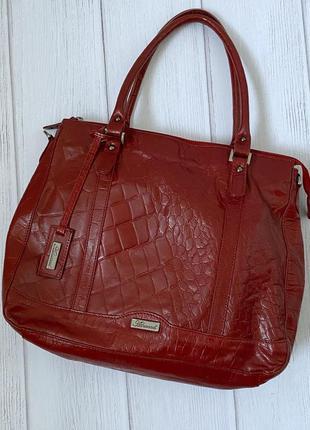 Vip большая кожаная сумка под крокодила ashwood англия