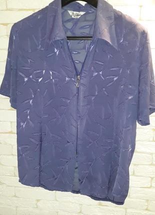 Шифоновая рубашка с коротким рукавом