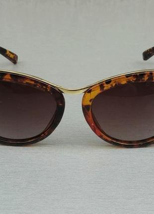 Dsquared очки женские солнцезащитные коричневые тигровые с градиентом
