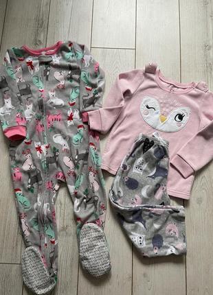 Флисовая пижама картерс 3т