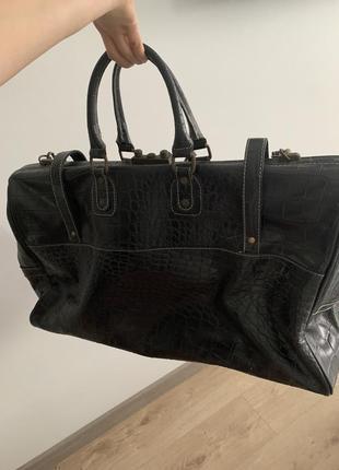 Винтажная кожаная сумка2 фото
