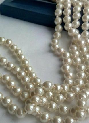 Ожерелье  150 см жемчуг стекло
