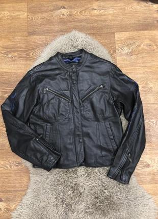Женская городская байкерская куртка косуха кожа harley davidson