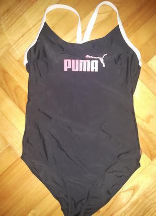 Спортивный цельный купальник от puma! p.-40! оригинал!