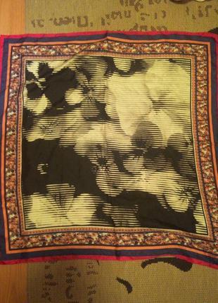 Стильный шелковый платок esprit,100% шелк,оригинал