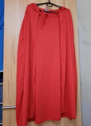 Карнавальный элемент костюма, красная накидка