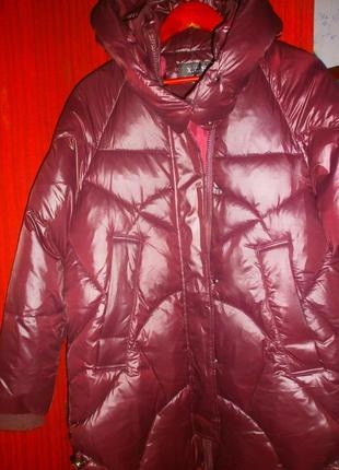 Очень крутая теплая зимняя куртка кокон,новая.